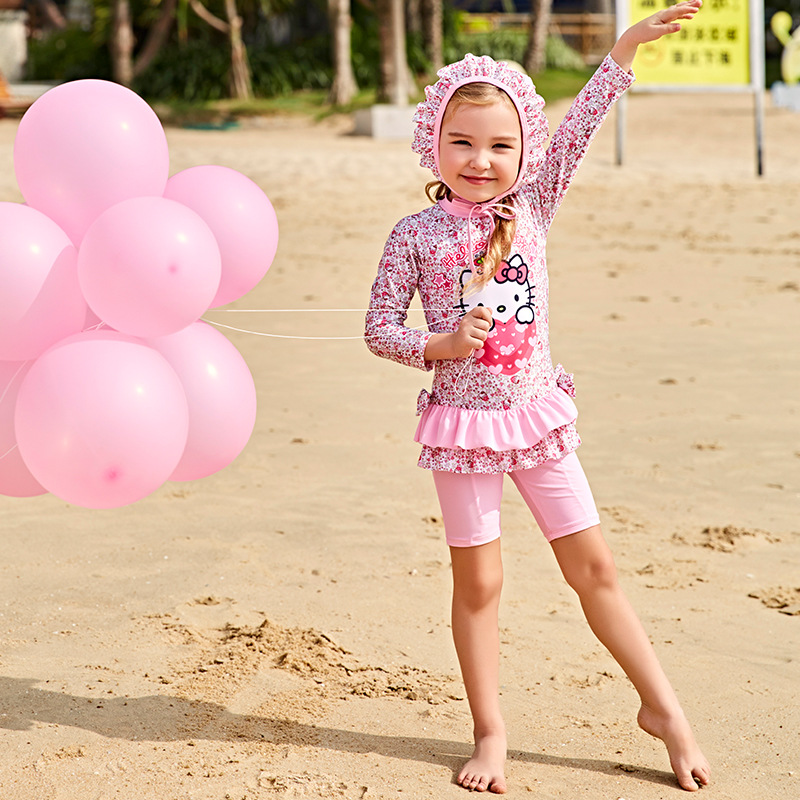 Kids Swimming Suit Junior Girls Swimsuit Baby Clothes Swimwear Bathing Suits 2018 Children Cute Girl Child Drying Dress 5831