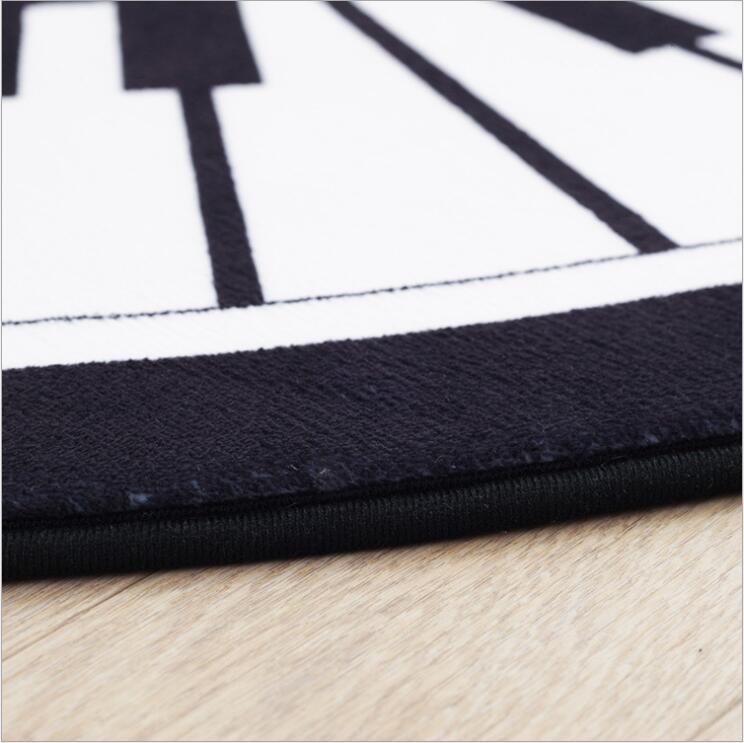 Tapis angleterre tapis circulaire chambre salon Table de thé ménage chevet tapis épaississement ordinateur chaise tapis Piano coussin - 3