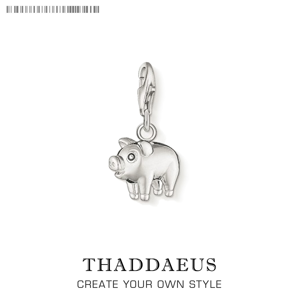 Cute Pet Pig Charm Pendant Charm Hand Stampe Personalized New Piglet Pendants Fit Bracelet Necklace 925 Sterling Silver Jewelry