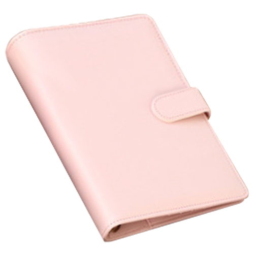 leather spiral notebook Original office person binder weekly planner/agenda organizer Cute ring diary stationery A6 (pink) girly notebook stationery suit clips pens daily plan agenda sticky notes great value planner organizer set cute journals series
