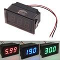 Waterproof DC 3.3-30V LED Voltmeter Panel Digital Volt Meter Gauge Display for Auto Car Motorcycle 3 Color Options