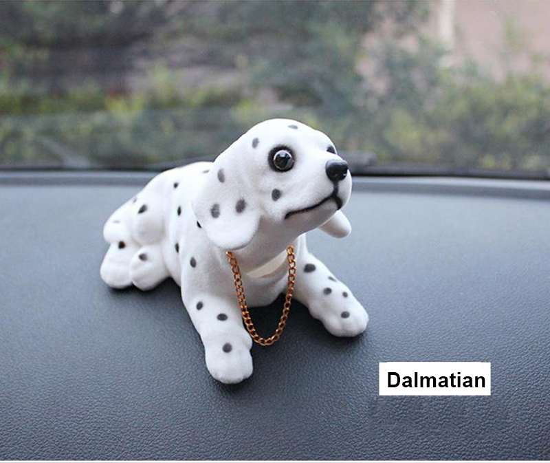 Kayme Bobble pea koera auto armatuurlaud nukk auto loksutades pea - Auto salongi tarvikud - Foto 3
