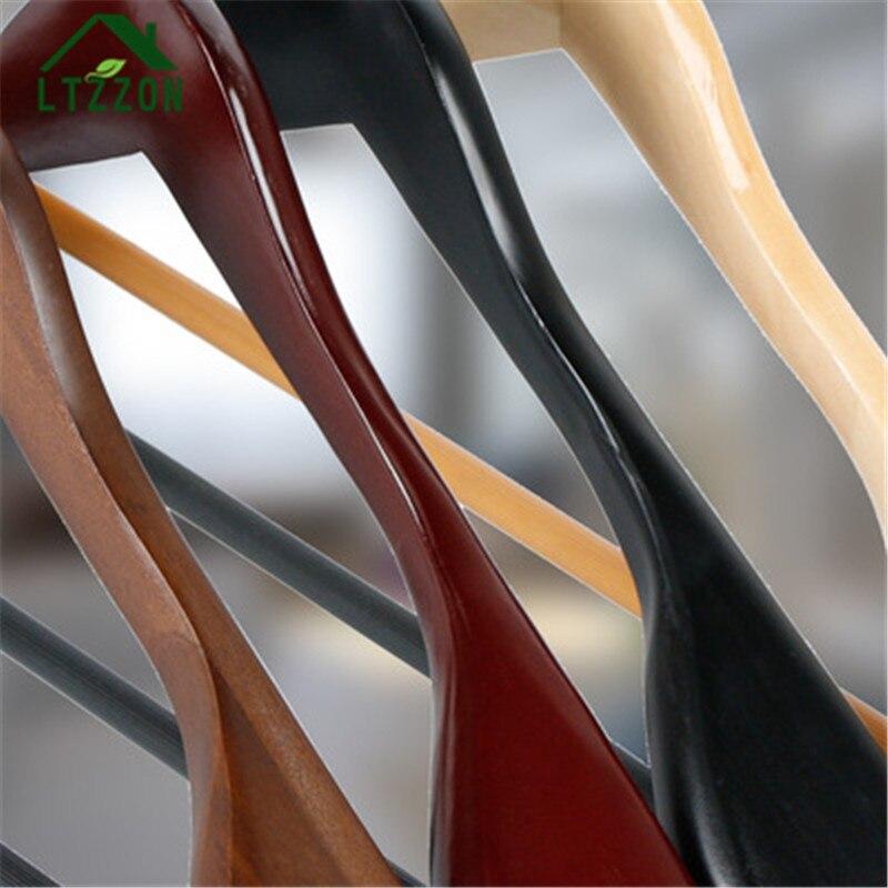 1 шт. Европейский Стиль ретро костюм пальто широкими плечевыми твердой древесины вешалка противоскользящим шкаф твердая древесина Сушилки ...