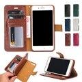 Lazer estilo ímã destacável removível pu leather wallet fique capa casefor iphone 7 plus