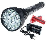 Forest Hunting LED Flashlight Torch 18000 Lumens Lantern 15 CREE XM L T6 5 Mode Extendable