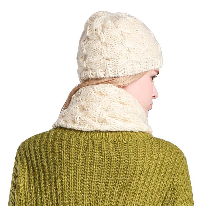 2018 nuevo conjunto de sombrero y bufanda para mujer invierno moda ...