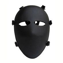 Пуленепробиваемая маска Черная защитная маска для всего лица IIIA.44 уровень военные 6 Баллистические маски Арамидные