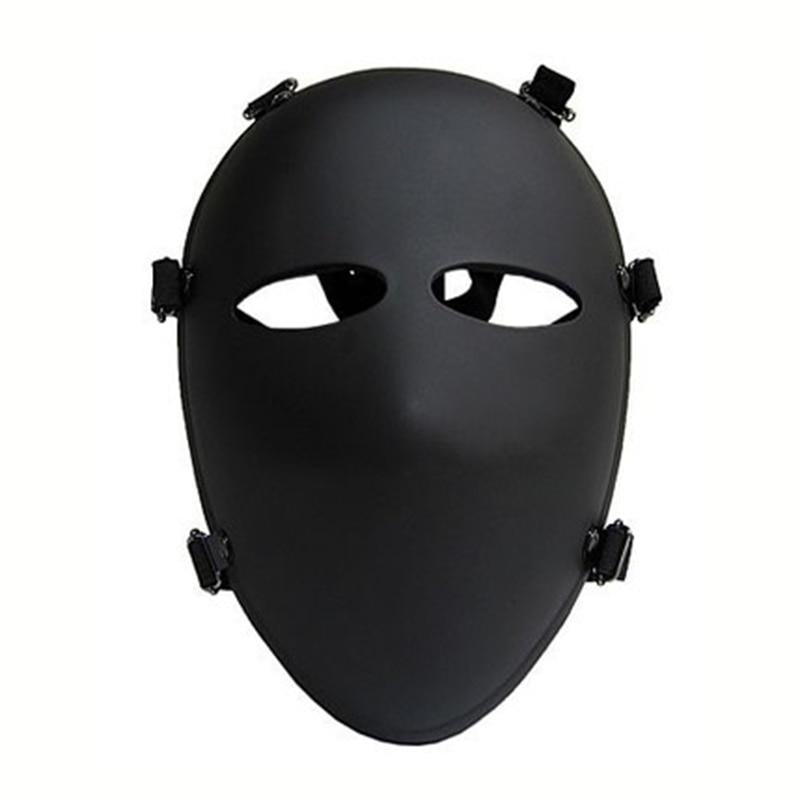 Bulletproof Mask Black Full Face Protective Mask IIIA.44 Level Military 6 Point Ballistic Masks Aramid