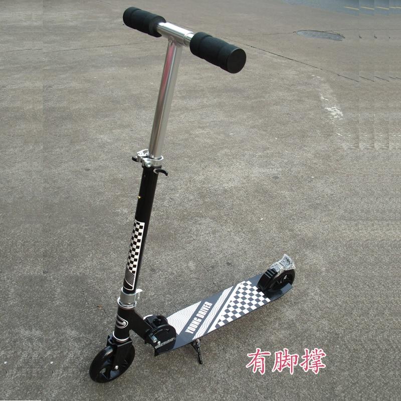 все цены на Teens Adult Fold Kick Scooter City Urban Commuter Push Scooter Height Adjustable 200mm PU Wheels Rear Mudguard Rear Brake онлайн