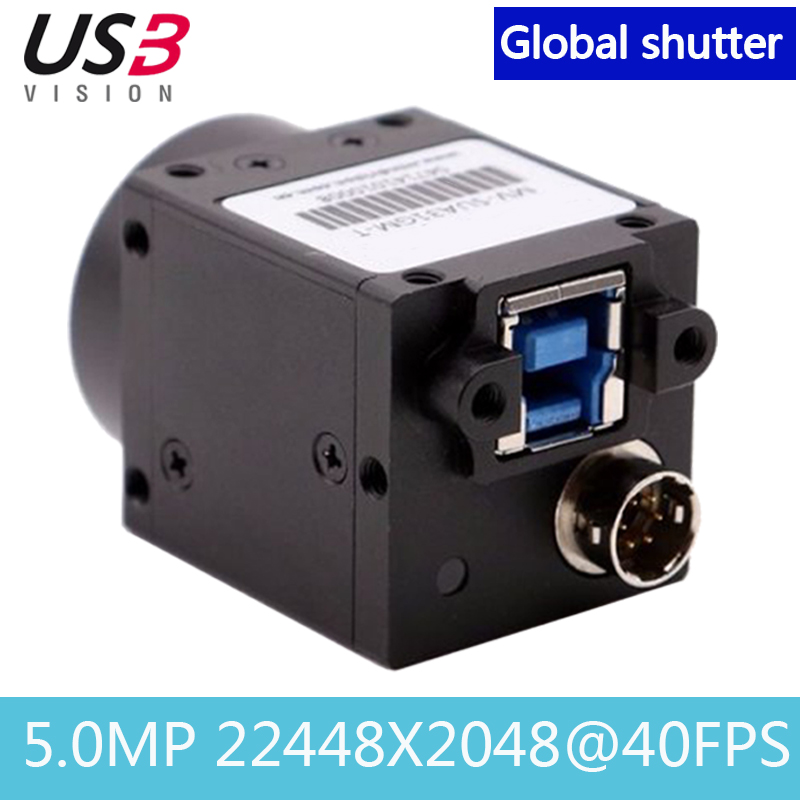 High Speed USB3.0 Industrial Digital Camera 5.0MP Color Global Shutter With SDK+Demo Support Windows System 2448X2048@40FPS
