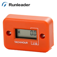 Runleader HM012 Inductive Digital Water Proof Tachometer Hour Meter For Motocross Gas Engine Boat Outboard Chainsaw