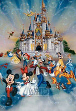 Cartoon castle 5d diy diamond painting kit square full drill 3d embroidery sale gift 50x75cm