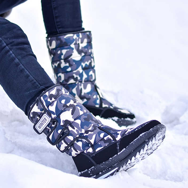 男性雪のブーツ厚い豪華な防水耐スリップ冬の靴の男性サイズ 36-47 Bota Ş デ hombre -40 度