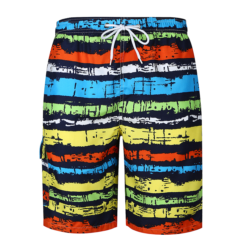 Shorts Mens Bermuda 2018 Summer Colour Stripe Men Beach Hot Cargo Men Boardshorts Male Brand MenS Short Casual Fitness XXL KJ