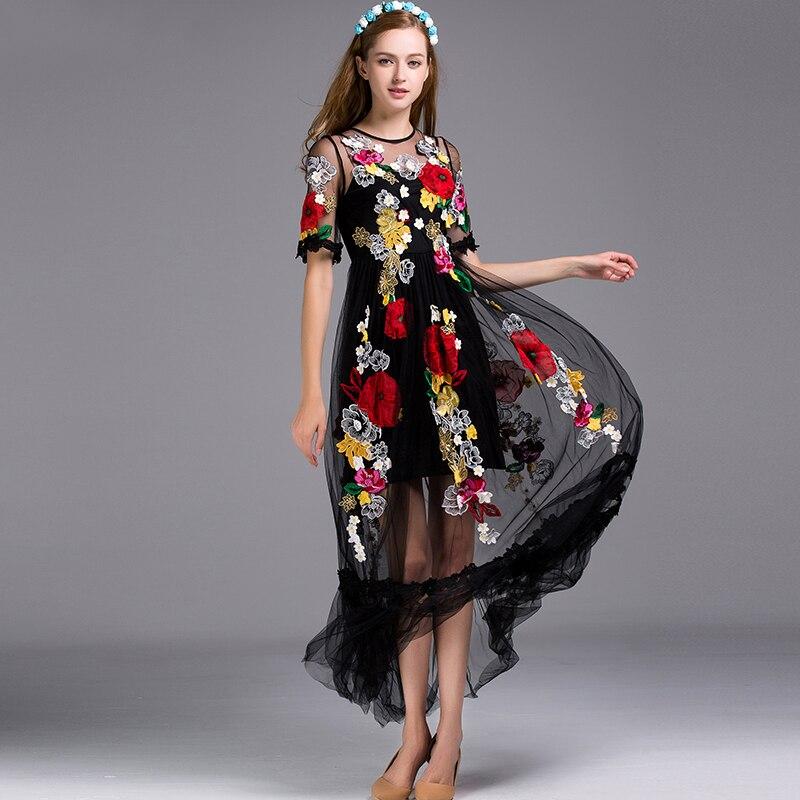 Аппликация на сетке для платья
