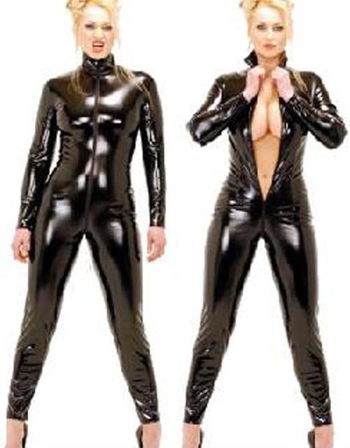 Women Jumpsuit Bodysuit Fashion Jumpsuit bodysuit playsuit overalls women rompers Zipper Black Long Sleeve Sexy Clubwear W7904