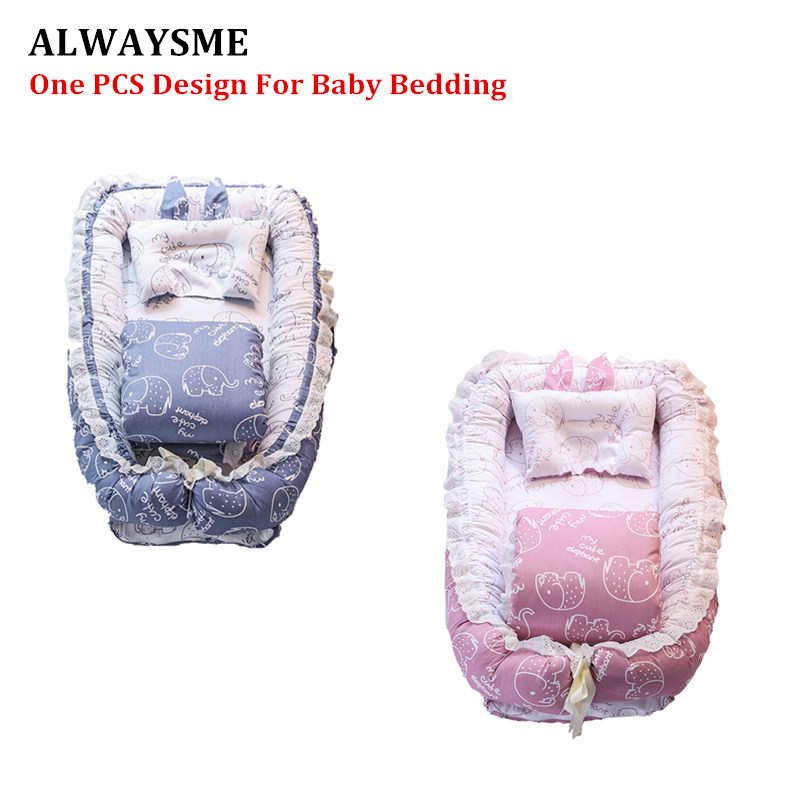ALWAYSME Full Set Portable Baby Bedding Accessories Quilt Pillow Mattresses Sheets Bumpers For Home Travel Baby