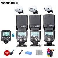 3pcs YONGNUO YN560III YN560 III Flash Speedlite General Wireless + YN560 TX Trigger For Canon Nikon Camera