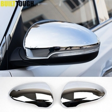 For Hyundai Tucson 2016 2017 2019 Chrome Side Door Mirror Cover Rear View Cap Molding Garnish Overlay Protector Car Styling 2pcs