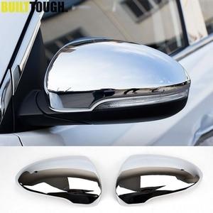 Image 1 - Pour Hyundai Tucson 2016 2017 2019 Chrome côté porte miroir couverture vue arrière bouchon moulage garniture superposition protecteur voiture style 2 pièces
