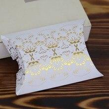Retro Bronzing Candy Boxes Fashion Reflective European New Pillow Shape Boxes Home Garden Festive Party Supplies Gift Boxes Bags