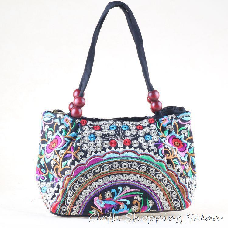 New National Ethnic Embroidery Bags Handmade Peony Butterfly ...