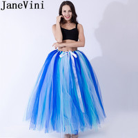 JaneVini Tutu Adulte Rockabilly Petticoat Women Ball Gown Puffy Tulle Long Underskirt Petticoat Bridal Buddy Under Wedding Dress