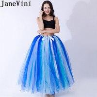 JaneVini Tutu Adulte Rockabilly Petticoat Women Ball Gown Puffy Tulle Long Underskirt Petticoat Bridal Buddy Under Wedding Dress