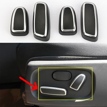 4PCS ABS Seat Adjustment Switch Knob Cover Trim For Land Rover Discovery 4 Range Rover Sport Evoque Car Accessories 1