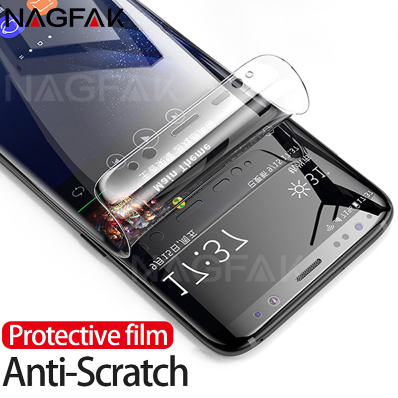 NAGFAK 3D Curved Screen Protector For Samsung Galaxy S9 S9Plus S8 S8Plus Note 8 S7 Edge Soft Protective film Not Tempered Glass