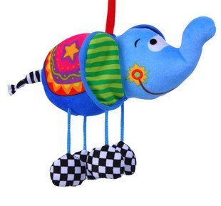Кэндис го! Младенцы игрушки милый синий elephant в форме плюш кровать bell кровать повесить 1 пк