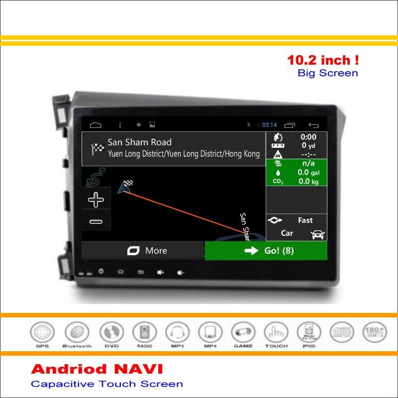 Coche android sistema de navegación gps mapa de navegación navi para honda civic