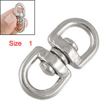 Sailboat Double Round Eye Swivel Bolt Hook Silver Tone Size 1(China)