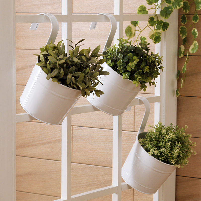 3PCS/Lot Hanging Flower Pot Flower Tub Removable Hook Wall Pots Iron Flower  Holder Balcony - Compare Prices On Wall Planter Basket- Online Shopping/Buy Low