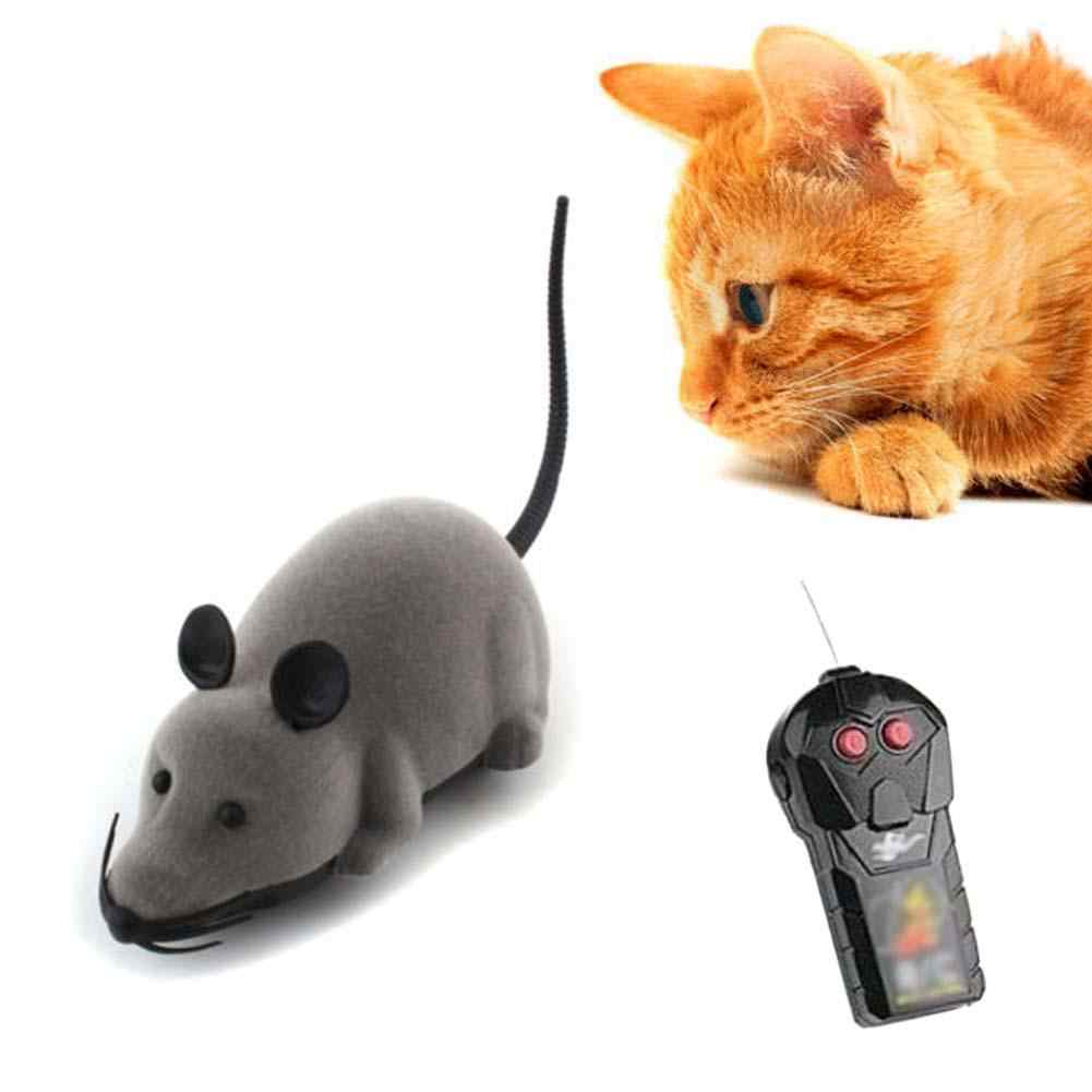 รีโมทคอนโทรลไร้สายหนูเมาส์ของเล่นสำหรับแมวสัตว์เลี้ยงสุนัข RC False เม้าส์ Novelty ตลกของเล่นเด็กของขวัญของเล่น RC ตลกเล่นแผ่น
