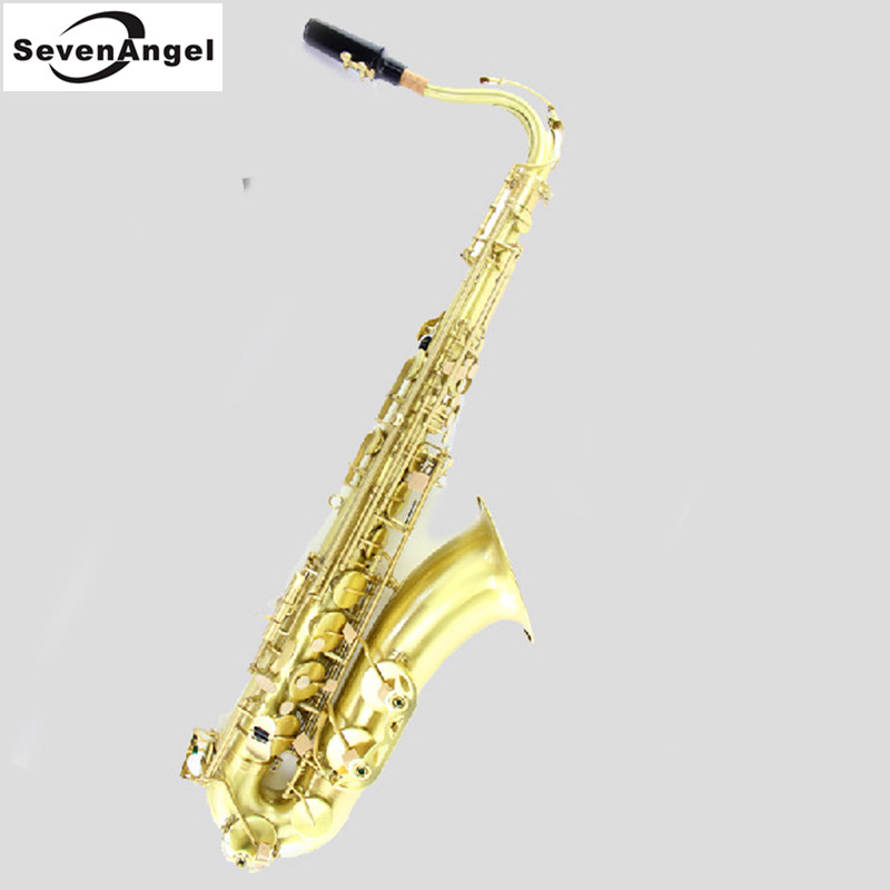 Tenor Bb green wire drawing Sax Wind Instrument Saxophone Western Instruments saxofone Saxe  Professional Musical Instrument french professional design water proof shockproof cozy soft lightweight bb tenor sax case backpack tenor sax bag for saxophone