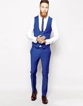 Men Wedding Suits Custom Slim Fit Suit Tailor Made Best Tuxedo Groom High Quality Cheap ( Jacket+Pants+Tie+Vest)