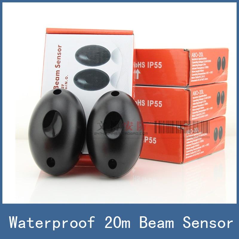 1 pair Newest Waterproof 20m Active Photoelectric Single Beam Infrared Sensor Barrier Detector for Gate Door Window , ABO-20 thyssen parts leveling sensor yg 39g1k door zone switch leveling photoelectric sensors