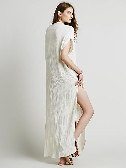 2e1066a58edd59 Bohemian witte jurk Vrouwen Vintage Etnische Bloem Geborduurde Katoen  Tuniek Casual Lange Jurk Hippie Boho Mensen Asymmetrische in Bohemian witte  jurk ...