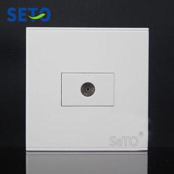 Conector de TV de un puerto tipo SeTo 86, placa de pared, placa frontal Keystone