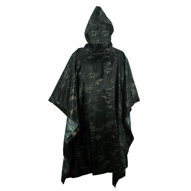 VILEAD Poly Waterproof Raincoat Impermeable Outdoor Equipment Multi-Functional Motorcycle Rain Poncho Canopy Men Women Durable 2