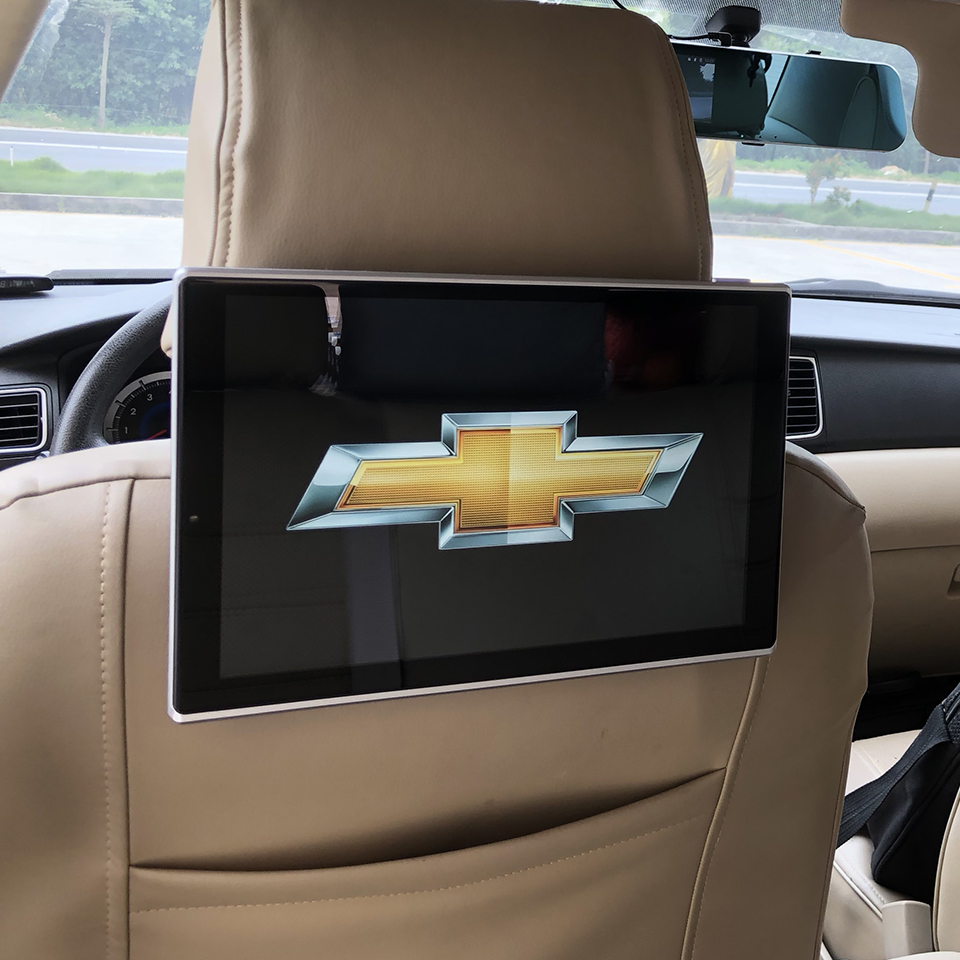 2019 Car Television Active Headrest DVD System LCD Android 7 1 OS Video TV Monitor For Chevrolet Rear Seat Entertainment System in Car Monitors from Automobiles Motorcycles