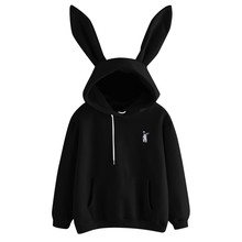 5ab5de0e075 Women s 2019 Hot Sale Cute Bunny Girl Hoodie Casual cute longsleeve Sweatshirt  Pullover with Ears S