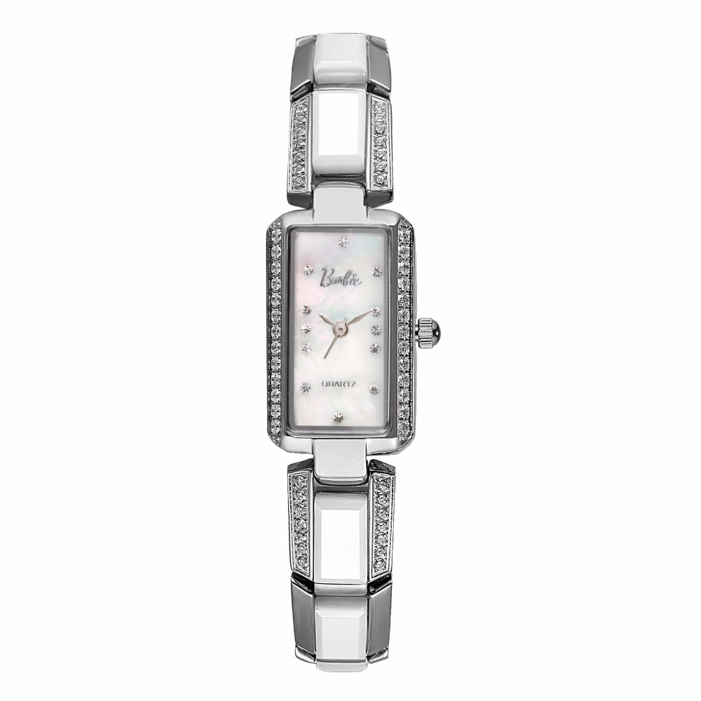Barbie New Women Dress Watches Fashion Watches Luxury Brand Square Dial Personalized Casual Ceramic Strap WatchBarbie New Women Dress Watches Fashion Watches Luxury Brand Square Dial Personalized Casual Ceramic Strap Watch