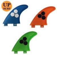Surf SUP FCS G3 Fins Pranchas de Fiberglass Fins Glass Flex Honeycomb Logo Fins 3 Colors Available