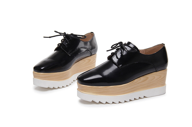 New Comfort Women Girl's Brockly Platform Stars Lace ups Shoes ...