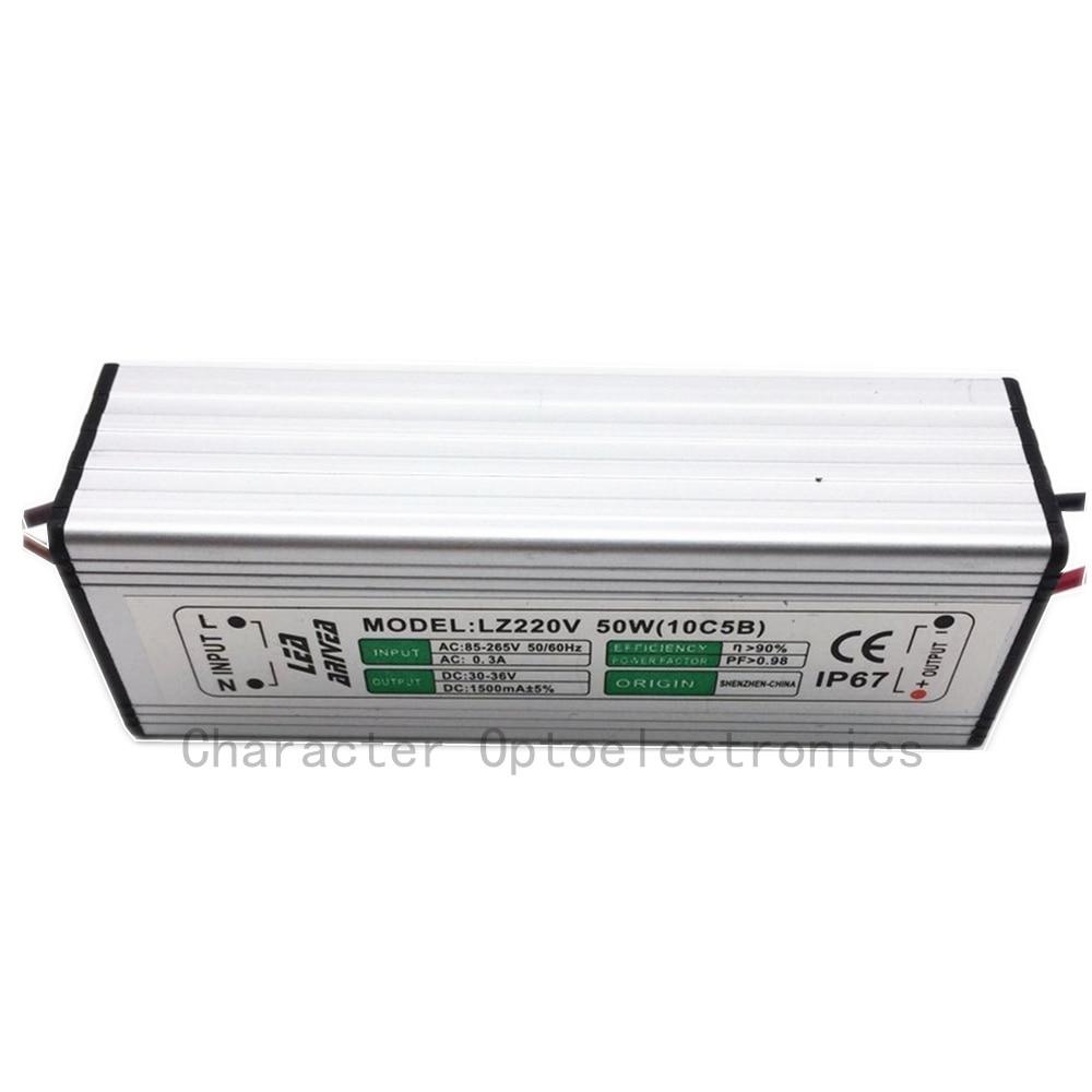 10pcs 50W LED drajver 1500mA 30-36V COB velike snage LED poplava - Različiti rasvjetni pribor - Foto 4
