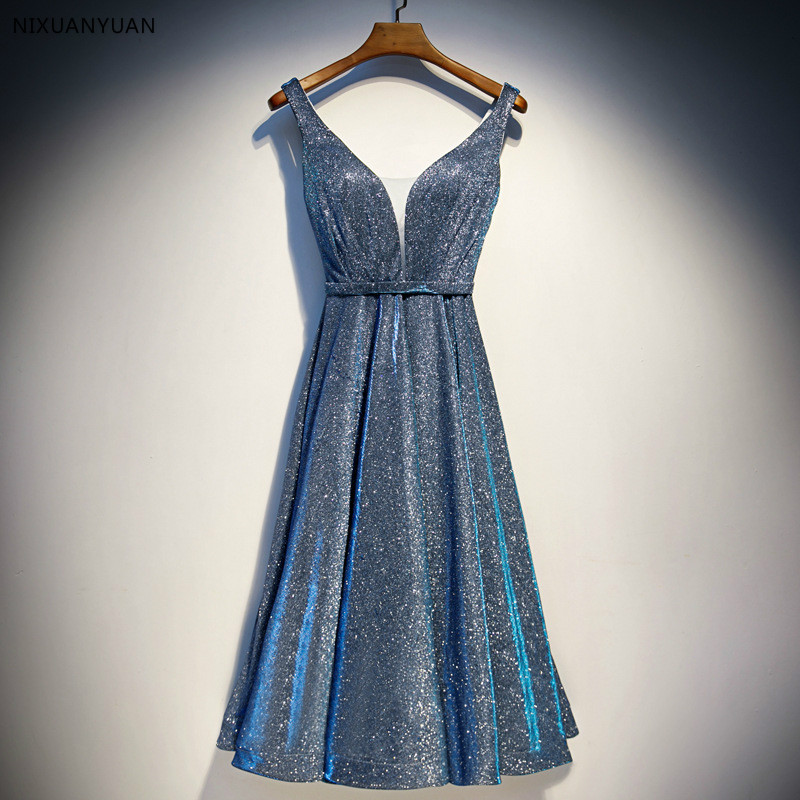 New   Evening     Dresses   2019 A Line Lace Appliques Lace Up Back V Neck Short   Evening     Dress   Robe De Soiree Prom gown Formal   Dress