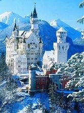 2016 neue 5D Diamant Stickerei Landschaft Winter Schnee Schlossgarten Haus mazayka von Diamanten Mosaik Malerei strass 50×70 cm