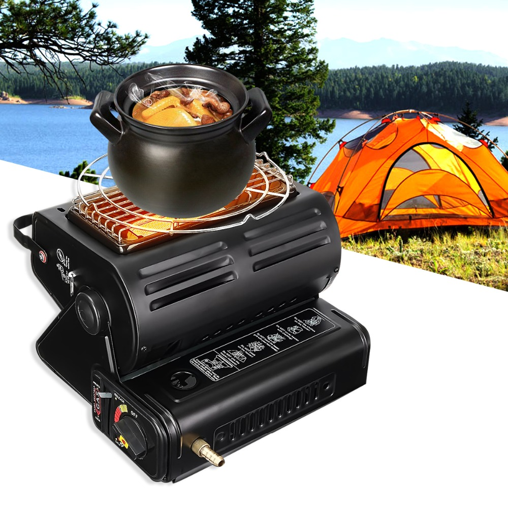 Aluminum Alloy Portable Outdoor Cooker Stove Camping Tent Portable Gas Heater Stove Tent Accessories Roller for Outdoor boundless voyage gas stove camping stove for outdoor cooking portable lightweight big power aluminum alloy bv1007